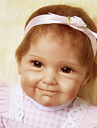 cheap -NPKCOLLECTION NPK DOLL Reborn Doll Baby 22 inch Silicone Vinyl - Newborn lifelike Cute Hand Made Child Safe Non Toxic Kid's Girls' Toy Gift / Lovely / CE Certified / Hand Applied Eyelashes