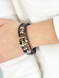 cheap -Women's Wrap Bracelet Anchor Anchor Stylish Mariner PU(Polyurethane) Bracelet Jewelry Black / Coffee For Daily