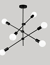 cheap -OYLYW 6-Light 76 cm Adjustable / New Design Chandelier Metal Sputnik / Linear Electroplated / Painted Finishes Nature Inspired / Modern 110-120V / 220-240V