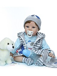 cheap -NPKCOLLECTION Reborn Doll Baby Boy 24 inch Vinyl - Gift Hand Made Artificial Implantation Blue Eyes Kid's Unisex Toy Gift