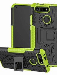 cheap -Case For Huawei Honor V20 Shockproof / with Stand Back Cover Solid Colored Hard Plastic
