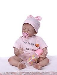 Недорогие -NPKCOLLECTION 22 дюймовый Куклы реборн Девочки Reborn Baby Doll как живой Подарок Ручная работа с одеждой и аксессуарами на день рождения и праздничные подарки для девочек / Винил
