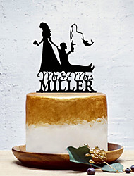 cheap -Cake Topper Classic Theme / Creative / Wedding Personalized / Romantic Acrylic Wedding / Birthday with Solid 1 pcs OPP