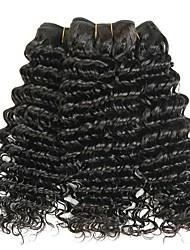 cheap -3 Bundles Indian Hair Deep Wave Remy Human Hair Headpiece Natural Color Hair Weaves / Hair Bulk Extension 8-28 inch Natural Color Human Hair Weaves Soft Fashion Thick Human Hair Extensions