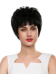 cheap -Synthetic Wig Curly Natural Wave Pixie Cut Wig Short Natural Black Synthetic Hair 8 inch Women's Synthetic New Comfortable Black / African American Wig / Doll Wig / For Black Women