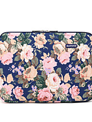 cheap -15.6 Inch Laptop Sleeve Canvas Floral Print Unisex Shock Proof