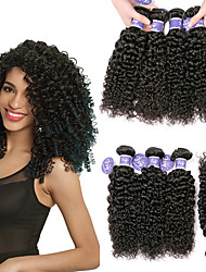 cheap -6 Bundles Brazilian Hair Kinky Curly 100% Remy Hair Weave Bundles 300 g Headpiece Natural Color Hair Weaves / Hair Bulk Bundle Hair 8-28 inch Natural Human Hair Weaves Odor Free Safety Easy to Carry