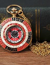 Недорогие -Муж. Карманные часы Кварцевый Золотистый Повседневные часы Крупный циферблат Аналоговый На каждый день Мода - Черный / Красный