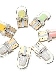 abordables -1 Pièce T10 / W5W Automatique Ampoules électriques 1 W COB 80 lm 8 LED Lumière de Plaque d'Immatriculation / Clignotants / Éclairage intérieur Pour Toyota / Mercedes-Benz / Honda Tous les modèles