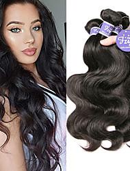 cheap -4 Bundles Indian Hair Body Wave Unprocessed Human Hair 100% Remy Hair Weave Bundles Headpiece Natural Color Hair Weaves / Hair Bulk Bundle Hair 8-28 inch Natural Human Hair Weaves Fashionable Design