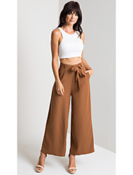 cheap -Women's Sporty / Sophisticated Bootcut Pants - Solid Colored Black Black Brown S M L