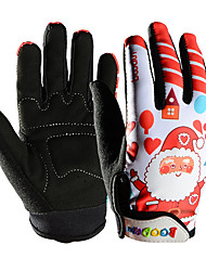 cheap -BOODUN Winter Bike Gloves / Cycling Gloves Mountain Bike MTB Thermal / Warm Breathable Anti-Slip Sweat-wicking Boys' Girls' Full Finger Gloves Sports Gloves Lycra Red Orange Green for Kid's Outdoor