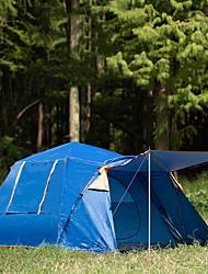 Недорогие -8 человек Семейный кемпинг-палатка На открытом воздухе Влагонепроницаемый Хорошая вентиляция Воздухопроницаемость Палатка Трехкомнатная для Охота Пешеходный туризм Походы Фиберглас Полиэстер Оксфорд