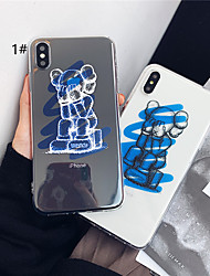 cheap -Case For Apple iPhone XS / iPhone XR / iPhone XS Max Transparent / Pattern Back Cover Transparent / Cartoon Soft TPU