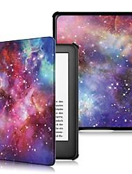 Недорогие -Кейс для Назначение Amazon Kindle Lite (2019) / Kindle PaperWhite 4 / Кобо Форма Защита от удара / Флип / Оригами Чехол Пейзаж Твердый Кожа PU