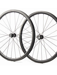 cheap -FARSPORTS 700CC Wheelsets Cycling 28 mm Road Bike Carbon Fiber Clincher / Tubeless Compatible 24/24 Spokes Others / 30 mm