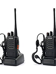 cheap -2PCS Baofeng BF-888S Walkie Talkie 888s 5W 2800mAh 16 Channels 400-470MHz UHF FM Transceiver 6m Two Way Radio Comunicador For Outdoor Racing(Give headphones)