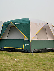 cheap -5 person Family Tent Outdoor Windproof Rain Waterproof Wearable Double Layered Poled Camping Tent 1500-2000 mm for Fishing Beach Camping / Hiking / Caving Stainless steel 240*240*180 cm