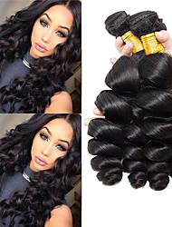cheap -3 Bundles Peruvian Hair Loose Wave Unprocessed Human Hair 100% Remy Hair Weave Bundles Natural Color Hair Weaves / Hair Bulk Bundle Hair Human Hair Extensions 8-28 inch Natural Human Hair Weaves