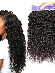 cheap -3 Bundles Peruvian Hair Water Wave Unprocessed Human Hair 100% Remy Hair Weave Bundles Headpiece Natural Color Hair Weaves / Hair Bulk Bundle Hair 8-28 inch Natural Natural Color Human Hair Weaves