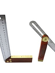 Недорогие -серия угловых линейок 200 мм скользящий т-образный профиль с деревянной ручкой + l-образный деревообрабатывающий инструмент под прямым углом измерительные инструменты