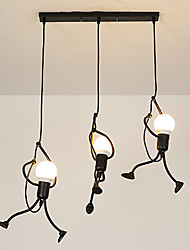 cheap -3-Light 8 cm Mini Style Chandelier Metal Novelty Painted Finishes Retro Vintage / Country 110-120V / 220-240V