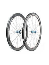 cheap -FARSPORTS 700CC Wheelsets Cycling 25 mm Road Bike Carbon Fiber Tubular 20/24 Spokes 50 mm