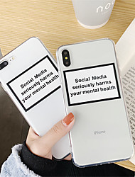 cheap -Case For Apple iPhone XS / iPhone XR / iPhone XS Max Transparent Back Cover Word / Phrase / Transparent Soft TPU
