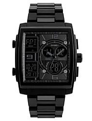 Недорогие -SKMEI Муж. Спортивные часы Цифровой силиконовый Черный 50 m Защита от влаги Календарь Секундомер Аналого-цифровые На открытом воздухе Мода - Черный Красный Синий