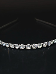 cheap -Women's Ladies Party Cute Elegant Rhinestone Silver Plated Alloy Solid Colored