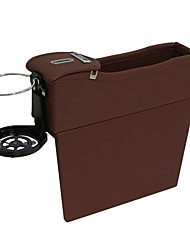 cheap -PU Leather Side Pocket Organizer Car Seat Crevice Storage Box Space Gap Filler Drink Cup Holder With Coin Car Console Interior Accessories