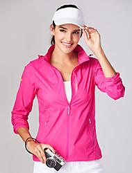 cheap -Women's Hiking Skin Jacket Hiking Jacket Outdoor Waterproof Windproof Sunscreen UV Resistant Hoodie Shirt Top Single Slider Camping / Hiking / Caving Traveling Black / Violet / Fuchsia / Green