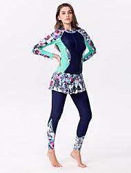 abordables -Femme Combinaison Fine Elasthanne Combinaisons Coque Intégrale Zip frontal - Natation Surf Peinture Mosaïque Eté / Elastique