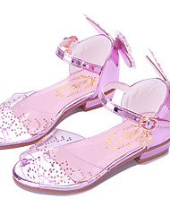 cheap -Girls' Comfort / Flower Girl Shoes PVC / PU Sandals Toddler(9m-4ys) / Little Kids(4-7ys) / Big Kids(7years +) Buckle White / Pink Spring / Fall / Peep Toe / Party & Evening / Rubber