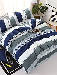 cheap -Duvet Cover Sets Solid Colored / Contemporary Polyster Printed 4 PieceBedding Sets