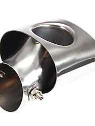 Недорогие -1 шт. 56 mm Советы по выхлопной трубе изогнутый Нержавеющая сталь Глушители выхлопа Назначение Honda Civic 2012 / 2013 / 2014