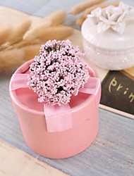 cheap -Cylinder Card Paper Favor Holder with Ribbons / Flower Favor Boxes - 12