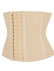 cheap -Women's Hook & Eye Overbust Corset - Solid Colored / Vertical Stripes, Modern Style / Basic Black Camel XXS XS S