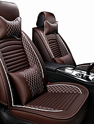 cheap -Car Seat Covers Headrest & Waist Cushion Kits Beige / Coffee / Black / Red PU Leather / Artificial Leather Business / Common For universal All years General Motors