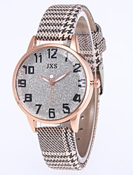 cheap -Women's Quartz Watches Casual Colorful Black Red Brown PU Leather Chinese Quartz Black Light Brown Lace White Water Resistant / Waterproof 30 m 1 pc Analog Two Years Battery Life