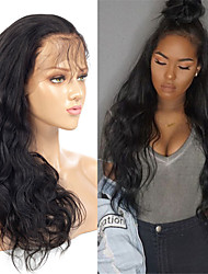 cheap -Human Hair Wig Medium Length Body Wave Side Part Party Women Best Quality Lace Front Brazilian Hair Women's Black#1B 10 inch 12 inch 14 inch