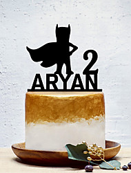 cheap -Cake Topper Classic Theme / Creative / New Baby Personalized / Romantic Acrylic Birthday with Solid 1 pcs OPP