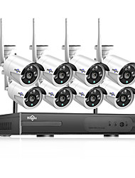 cheap -Hiseeu POEKIT-8HB624 HD 8CH 5MP POE security camera System Kit H.265 POE IP Camera Outdoor Waterproof home cctv Video Surveillance NVR set