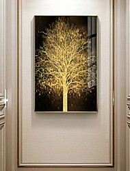 cheap -Gold Tree Botanical Prints Luxury Style Framed Wall Art