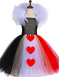 cheap -Queen of Hearts Inspired Children Girls Tutu Dress Tulle Princess Carnival Costume