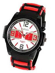 cheap -Men's Sport Watch Quartz Silicone White / Blue / Red Casual Watch Cool Analog Casual Outdoor - Yellow Red Blue / Stainless Steel