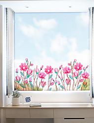 abordables -Film de fenêtre et autocollants Décoration contemporain / 3D Fleur PVC Autocollant de Fenêtre / Antireflet