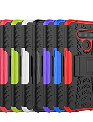 cheap -Case For LG LG X Power3 / LG V40 / LG V50 Shockproof / with Stand Back Cover Armor Hard PC