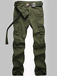 cheap -Men's Hiking Pants Convertible Pants / Zip Off Pants Summer Winter Outdoor Breathable Quick Dry Sweat-wicking Multi-Pocket Cotton Pants / Trousers Bottoms Fishing Climbing Camping / Hiking / Caving