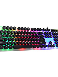 cheap -LITBest G 1 USB Wired Gaming Keyboard with USB Hub Ports Multicolor Backlit 104 pcs Keys